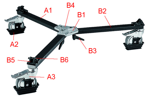 Bogen 3127 video dolly